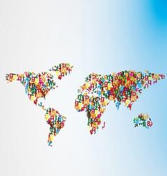 alfabet world map vector image vector image