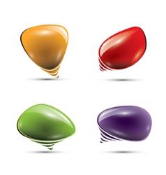 Glossy speech bubbles or balloons vector