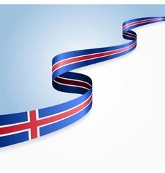 Icelandic flag background vector image