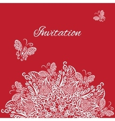invitation Red background vector image