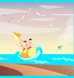 summer holiday people relax on sea vector image