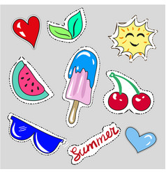 hand drawn childish fashion stickers vector image vector image