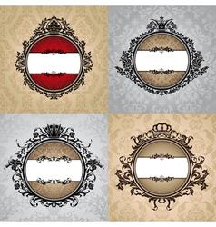 set of abstract royal vintage frames vector image vector image