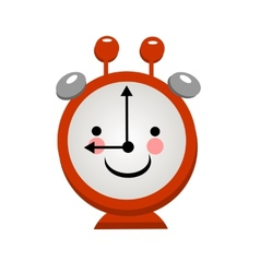 Smiling alarm clock on a light background vector image vector image