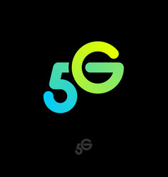 5 g logo fourth generation mobile networks vector