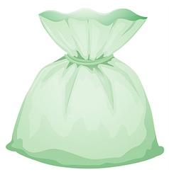 A light green pouch vector