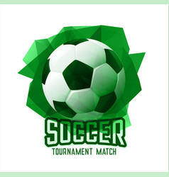 abstract green football soccer tournament sports vector image