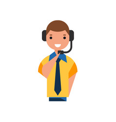 Air traffic controller character man in uniform vector