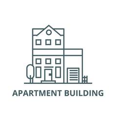 Apartment building line icon apartment vector