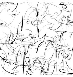 artistic pattern with curvy distortion effect vector image