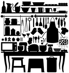 baking pastry kitchen tool a big set of bakery vector image