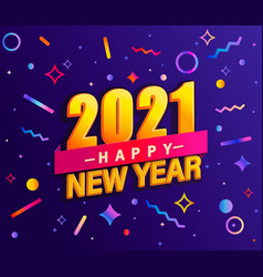 Banner for 2021 new year vector