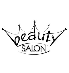 Beauty salon silhouette crown vector
