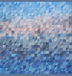 blue abstraction composed blue bricks vector image