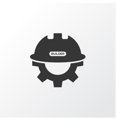 builder icon symbol premium quality isolated gear vector image