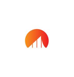 Business graph abstract logo vector