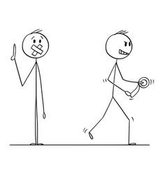 Cartoon of speaking man or businessman vector