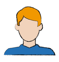 Character man male profile avatar image vector