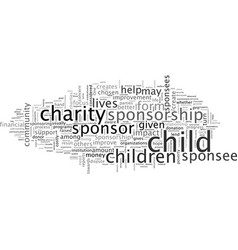 Child sponsorship do or dont vector