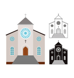 churches buildings set vector image