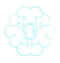 cloud braind connections vector image