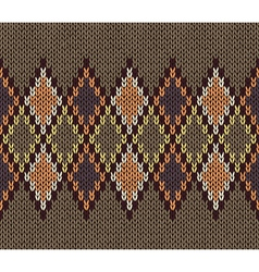 Color Male Knitted Pattern vector