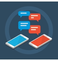 Concept of a mobile chat vector