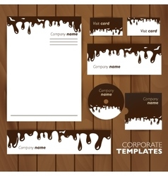 Corporate identity template Business set design vector