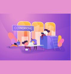 Coworking space informal workplace vector
