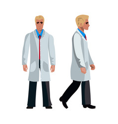 doctor man character flat design vector image