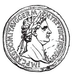 Domitian vintage vector