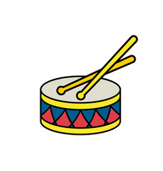 Drum color object vector