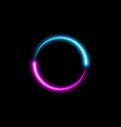 dynamic circle neon effect sci-fi futuristic sign vector image