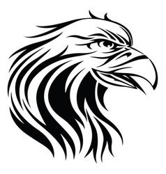 Eagle tattoo vintage engraving vector