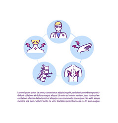 Early reporting msd symptoms concept icon vector