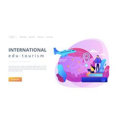 educational tourism concept landing page vector image