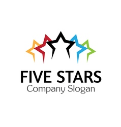 Five Stars Design vector