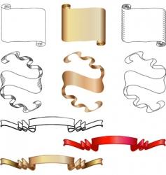 flag design elements vector image