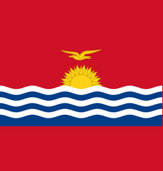 Flag of kiribati official colors and proportions vector