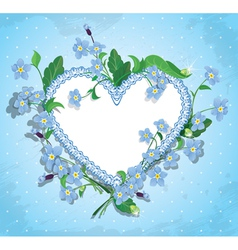 flowers heart card 2 380 vector image