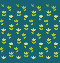 Folk atyle holland tulip repeatable motif simple vector