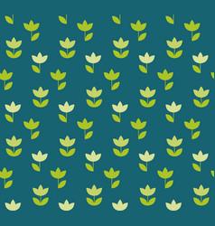 folk atyle holland tulip repeatable motif simple vector image
