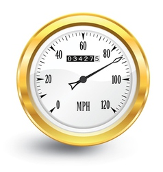 Gold speedometer vector