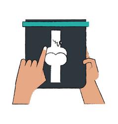 hand holding x ray bones vector image