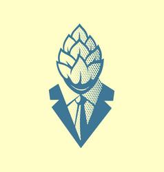 hop head pop art style label logo or vector image