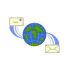 Icon Email Globe vector