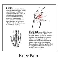 Knee pain Hands holding leg vector