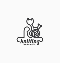 Knitting logo vector