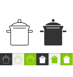 pan simple black line icon vector image