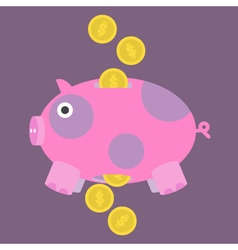 Pig-and-Money-Icon vector